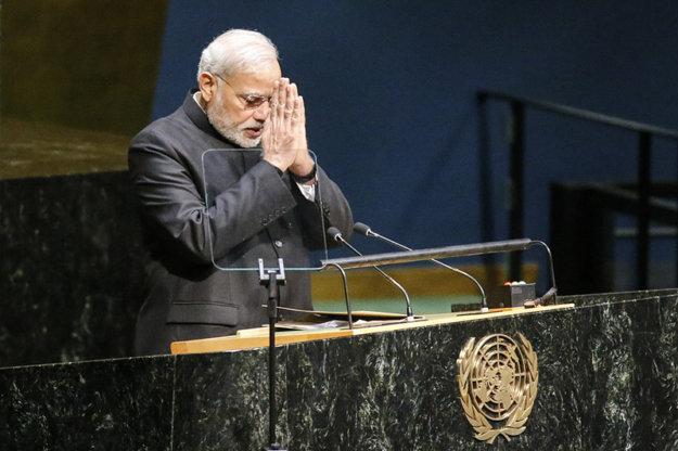Выступление Нарендры Моди перед Генеральной Ассамблеей ООН с предложением объявить 21 июня Международным днем йоги