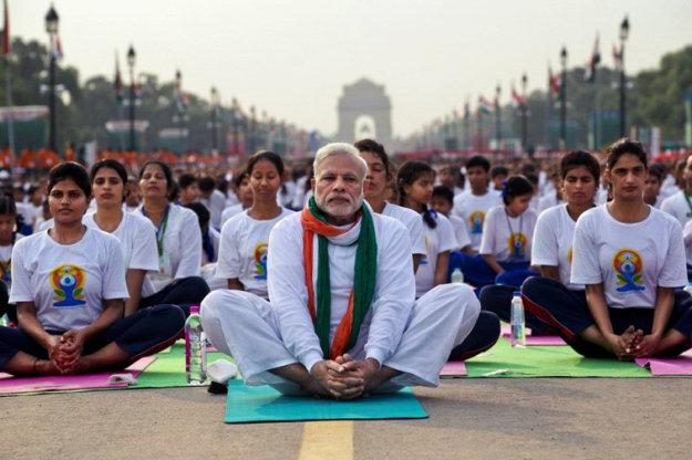 Международный день йоги в Нью-Дели, Индия