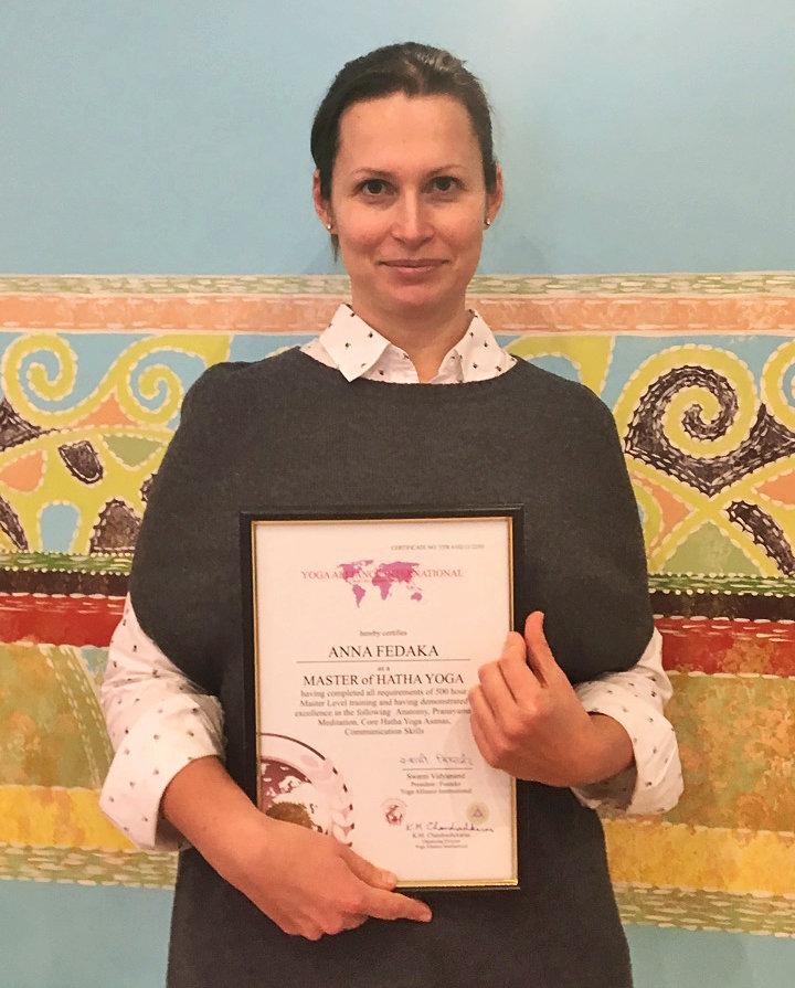 Анна Федака – преподаватель Школы инструкторов йоги Федерации йоги России