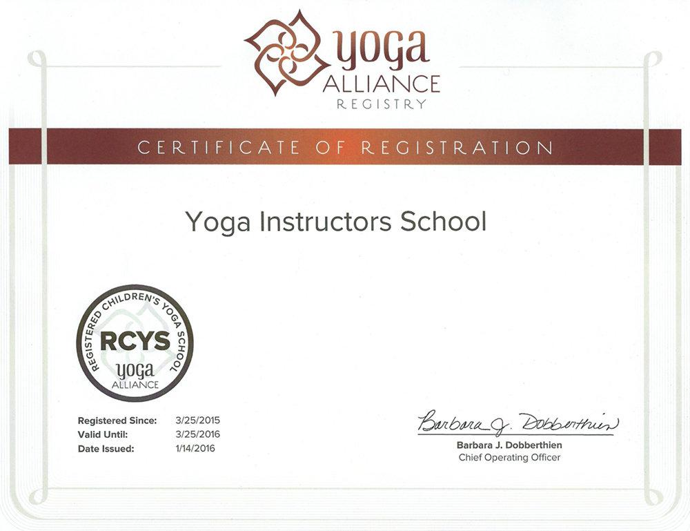 RYS-200 (Registered Children Yoga School) – регистрация программы детской йоги Школы инструкторов йоги Федерации йоги России в Альянсе йоги США