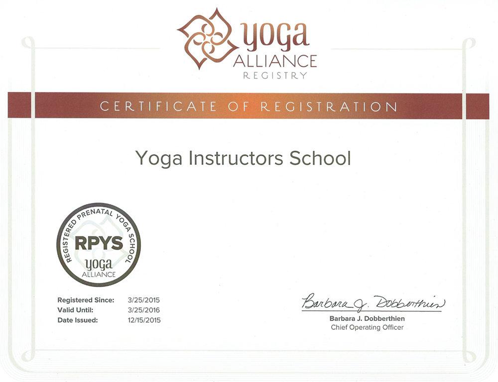 RYS-200 (Registered Prenatal Yoga School) – регистрация программы перинатальной йоги Школы инструкторов йоги Федерации йоги России в Альянсе йоги США