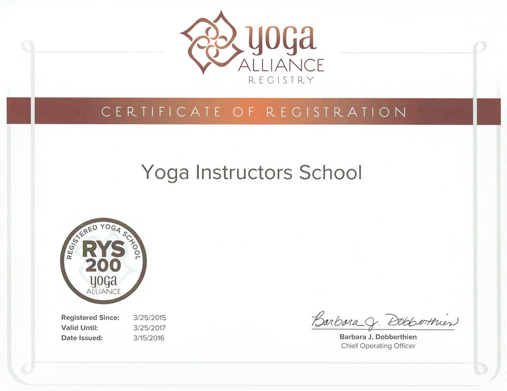 RYS-200 (Registered Yoga School, 200 hr program) – регистрация программ 200 часов Школы инструкторов йоги Федерации йоги России в Альянсе йоги США