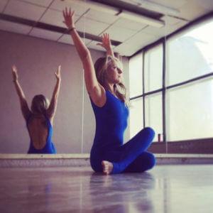 Слитный комбинезон для йоги