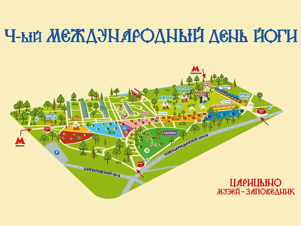 Схема Международного дня йоги в Москве